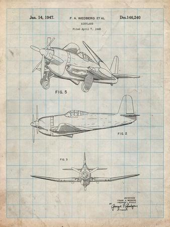 Contra Propeller Low Wing Airplane Patent