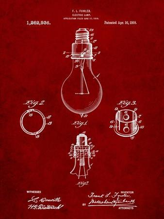 Electric Lamp Patent