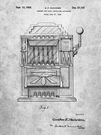 Vintage Slot Machine 1932 Patent