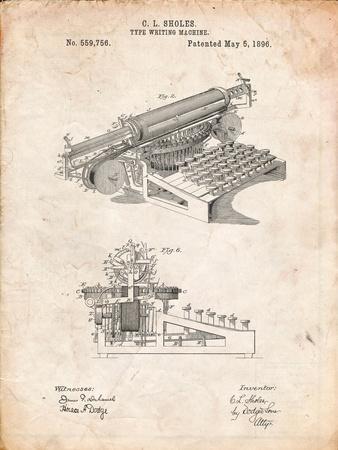 Last Sholes Typewriter Patent