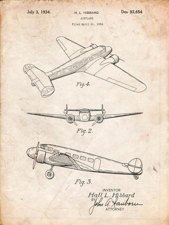 Lockheed Electra Airplane Patent