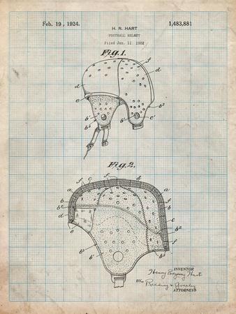 Leather Football Helmet Patent