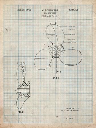 Boat Propeller 1964 Patent