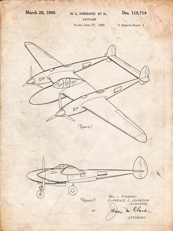 P-38 Airplane Patent