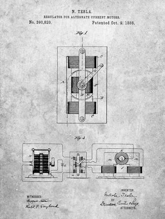 Tesla Regulator for Alternate Current Motor Patent