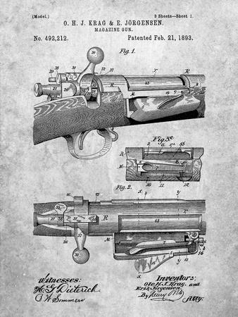 Krag Jãrgensen Repeating Rifle Patent Print