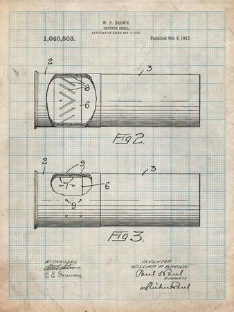 Shotgun Shell Patent Print