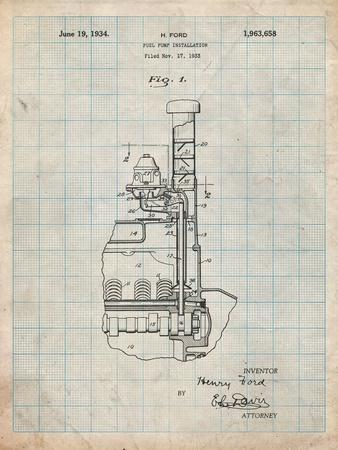 Ford Fuel Pump 1933 Patent