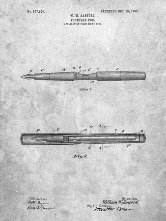 Sanford Fountain Pen 1905 Patent