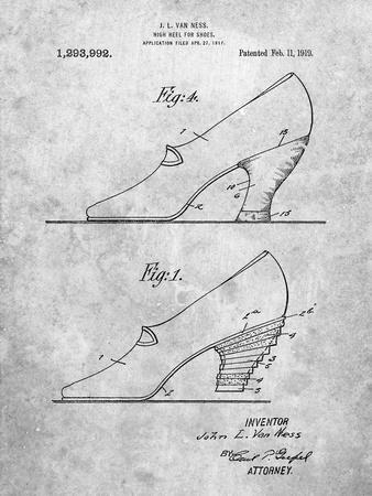 High Heel Shoes 1919 Patent