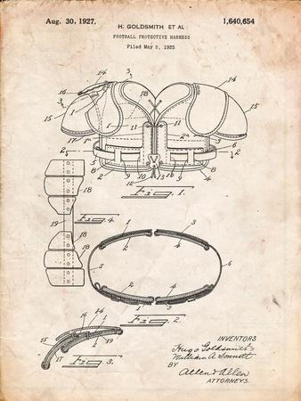Football Shoulder Pads Patent