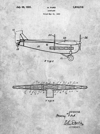 """Ford Tri-Motor Airplane """"The Tin Goose"""" Patent"""