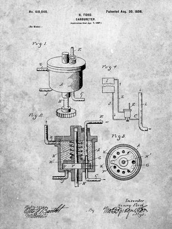 Ford Carburetor 1898 Patent
