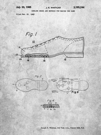 Vintage Bowling Shoes Patent