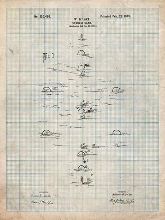Croquet Game 1899 Patent