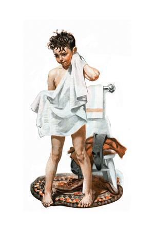 C-L-E-A-N (or Boy Drying Off after Bath)