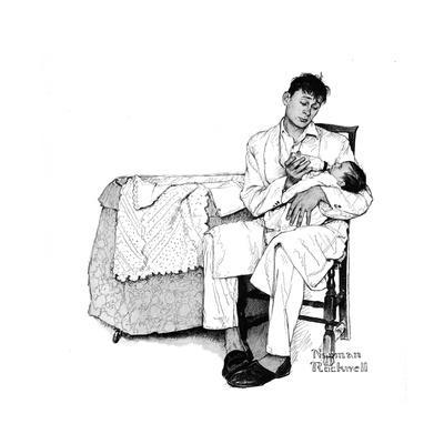 Father Feeding Infant
