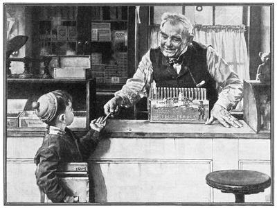 His First Pencil (or Boy and Shopkeeper)