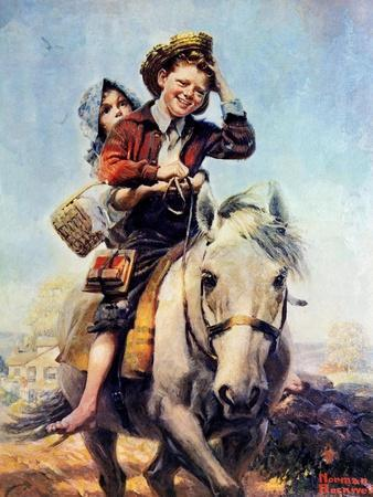 Off to School (or Boy and Girl on Horse)