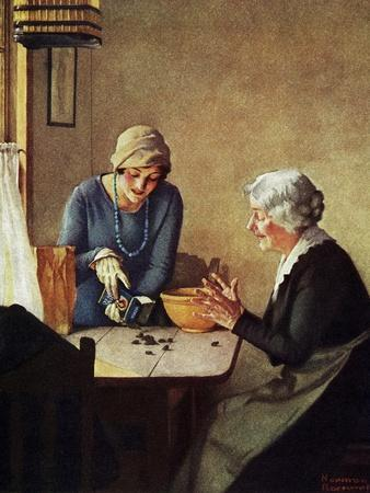 Fruit of the Vine (or Mother and Daughter Pouring Raisins at Table)