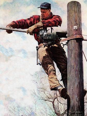 The Lineman (or Telephone Lineman on Pole)