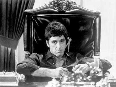 Al Pacino Siting on Chair Black and White Portrait