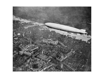 The Airship 'Graf Zepplin' over London, August 1931