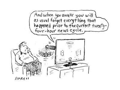 """""""And when you awake you will as usual forget everything that happened prio…"""" - Cartoon"""