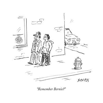 """""""Remember Bernie?"""" - Cartoon"""