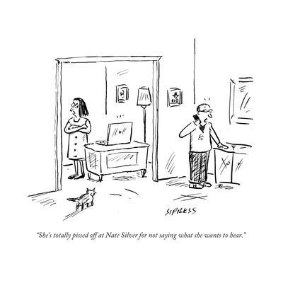 """""""She's totally pissed off at Nate Silver for not saying what she wants to …"""" - Cartoon"""
