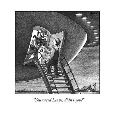 """""""You voted Leave, didn't you?"""" - New Yorker Cartoon"""