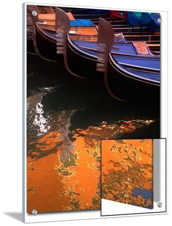 Moored Gondolas in Venice, Italy