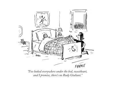 """""""I've looked everywhere under the bed, sweetheart, and I promise, there's …"""" - Cartoon"""