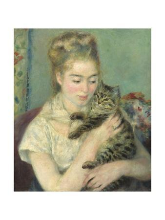 Woman with a Cat, 1875