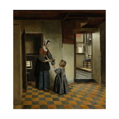 Woman with a Child in a Pantry, C. 1656-60