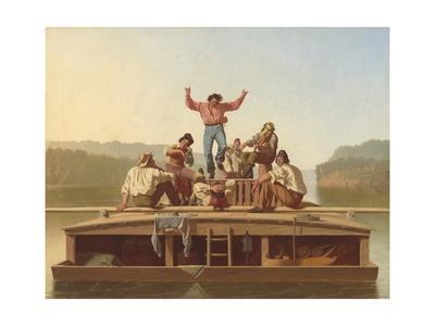 The Jolly Flatboatmen, 1846