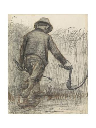 Wheat Mower with Hat, Seen from Behind, C. 1870-90
