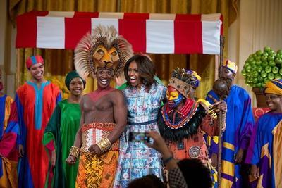 First Lady Michelle Obama Joins the Cast of Disney's the Lion King East Room of the White House