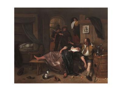 The Drunken Couple, 1655