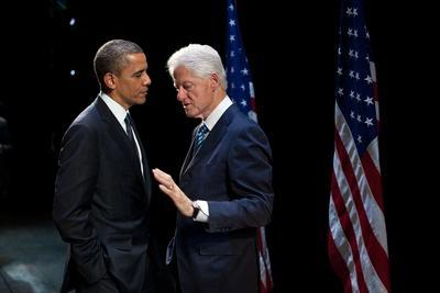 President Barack Obama with Former President Bill Clinton at an Election Year Fundraiser