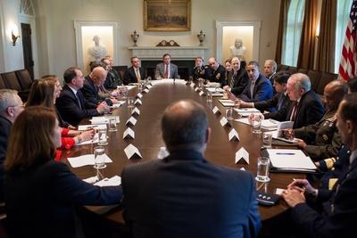 President Obama Meets with U.S. Intelligence Officials in the Cabinet Room of the White House