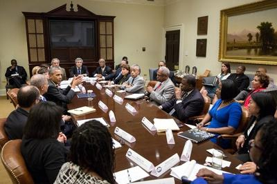 President Barack Obama with Civil Rights Leaders at the White House