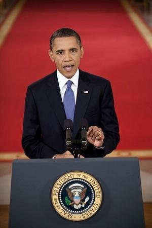 President Barack Obama Addresses the Nation on the Draw Down of American Troops from Afghanistan