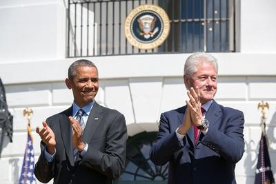 President Barack Obama and Former Pres. Bill Clinton on the 20th Anniversary of the Americorps