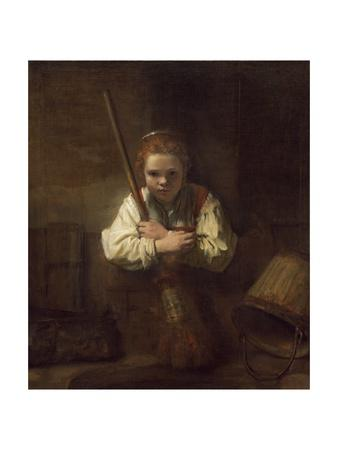 A Girl with a Broom, 1651