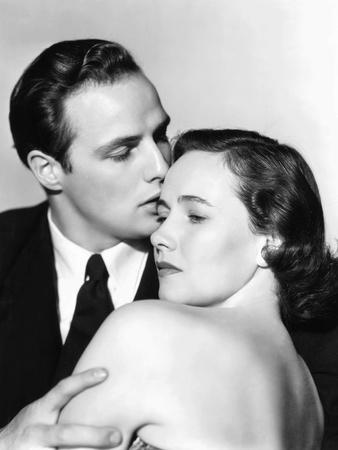 The Men, from Left, Marlon Brando, Teresa Wright, 1950