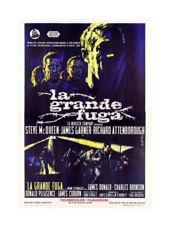 The Great Escape, (AKA La Grande Fuga), Italian Poster Art, 1963