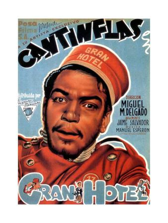 Gran Hotel, Cantinflas on Spanish Poster Art, 1944