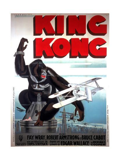 King Kong French Poster Art 1933