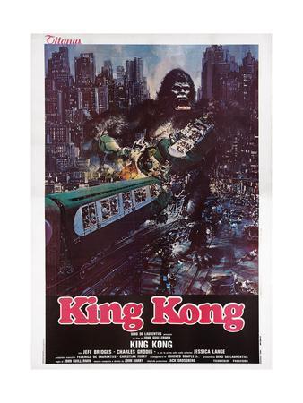 King Kong, Italian Poster Art, 1976